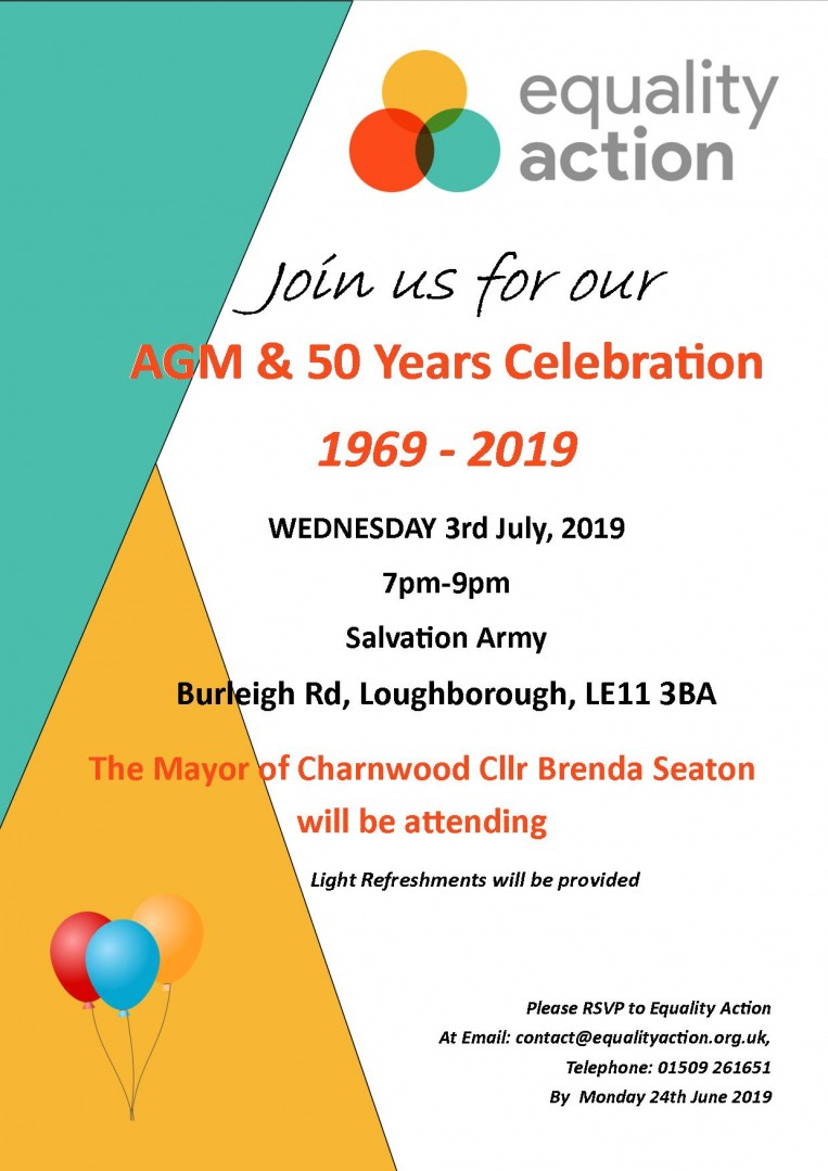 50 years celebrations for Equality Action 1969-2019 - Annual General Meeting