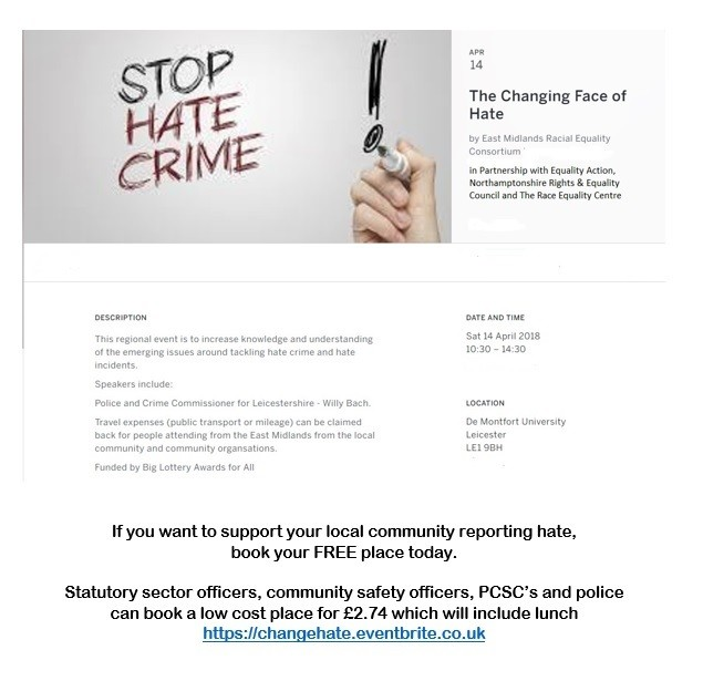 Changing Face of Hate - regional conference on hate crime
