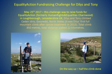 Equality Action Fundraising Challenge for Dilys and Tony